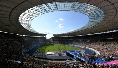 Beim ISTAF Berlin treten internationale Leichtathleten gegeneinander an