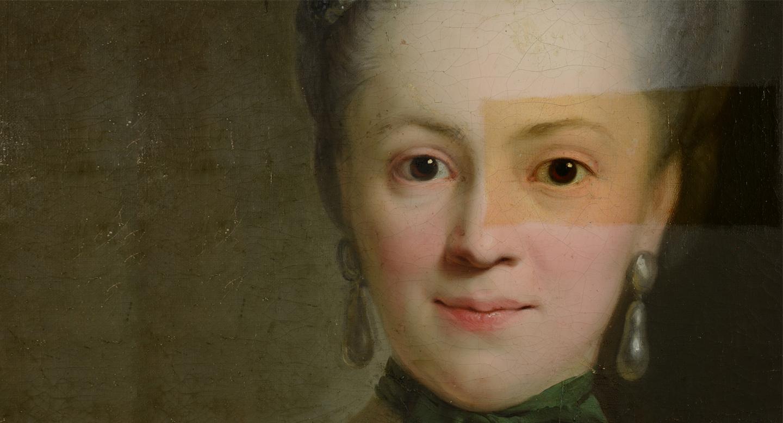 """""""Die Wiedergeburt der Henriette von Carlowitz – Ein Gemälde von Anton Graff wird restauriert"""" in der Alten Nationalgalerie"""