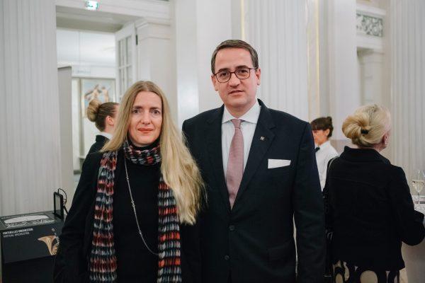 Janina Paul, zukünftige Geschäftsführende Direktorin Konzerthaus Berlin und Mirko Nagel, Leiter Family Office Weberbank Actiengesellschaft